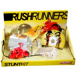 Majorette Authentic игровой набор Rush Runners Stunt Kit + DVD (204878)